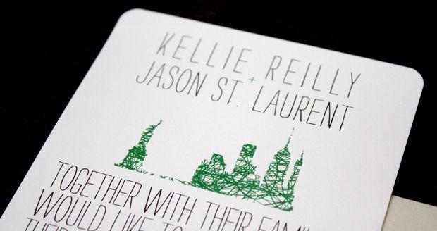 modern new york-themed wedding invitations | nyc, matrimonio e, Wedding invitations