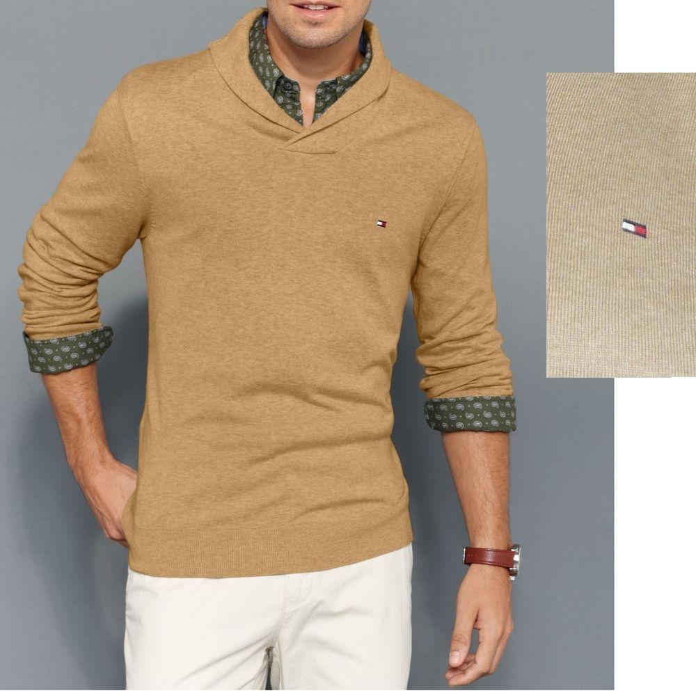 669575f97772 Tommy Hilfiger sweater american shawl collar grain heather men s ...