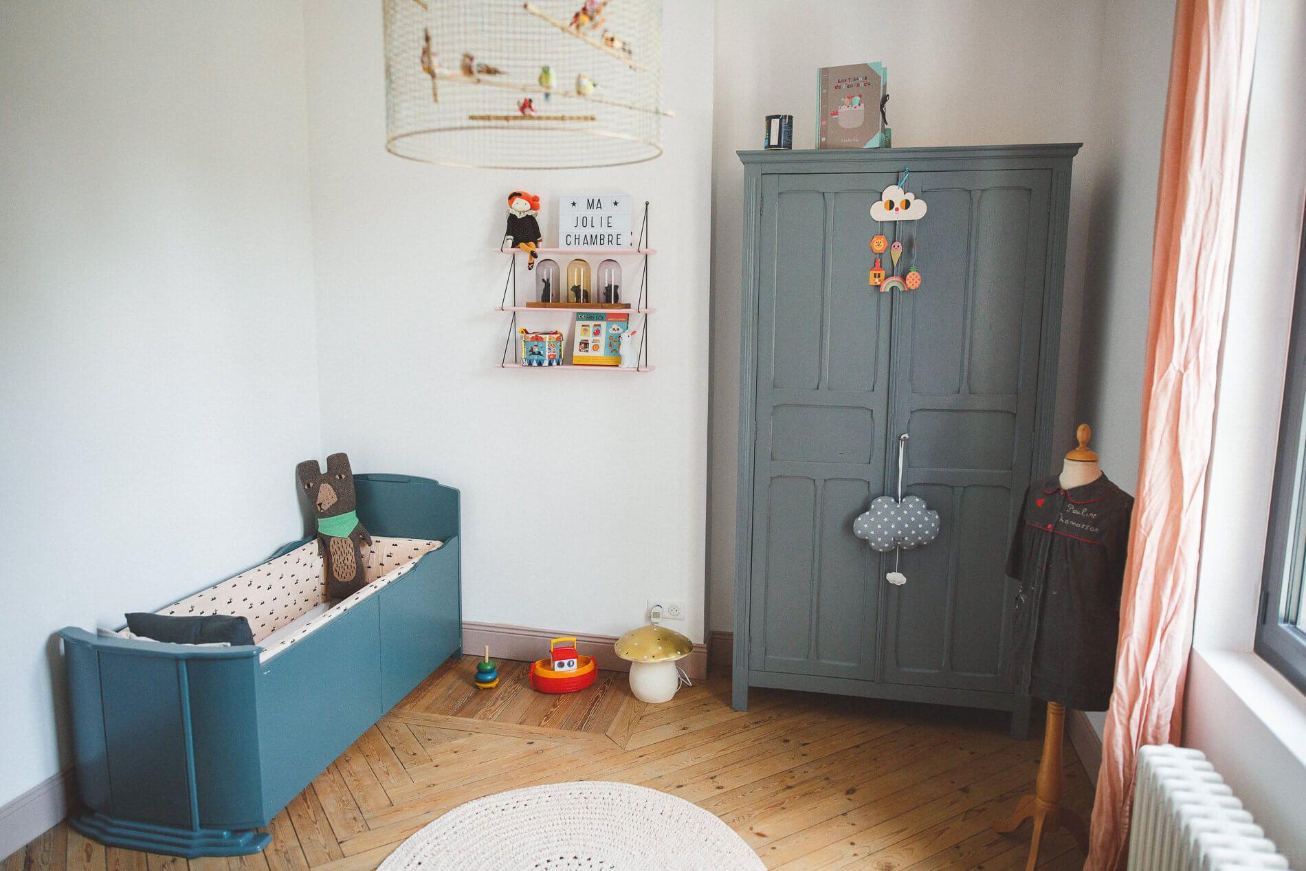 La jolie chambre vintage de Constance