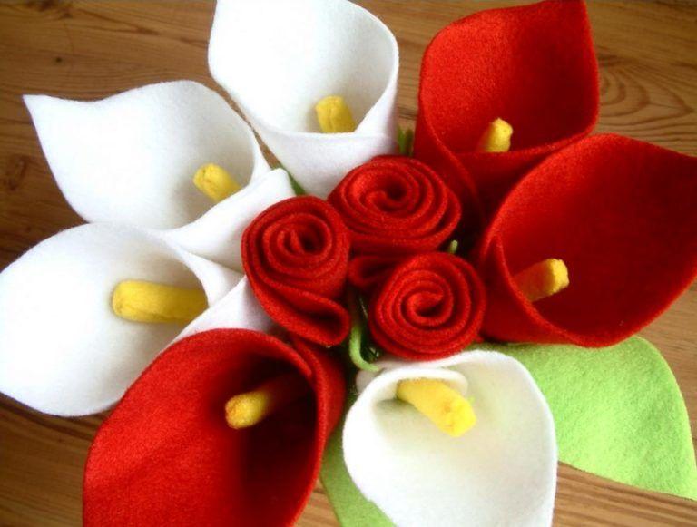 Contoh Kerajinan Tangan Bunga Dari Kain Flanel Merah Putih