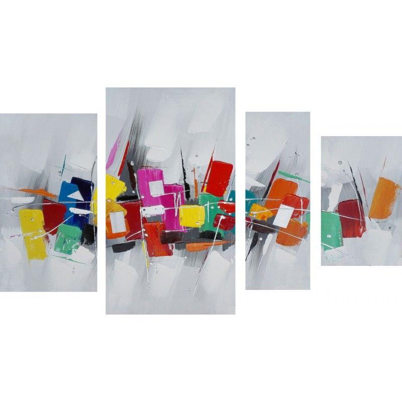 D corez les murs de votre int rieur avec le tableau peinture contemporaine de style abstrait - Tuto peinture abstraite contemporaine ...