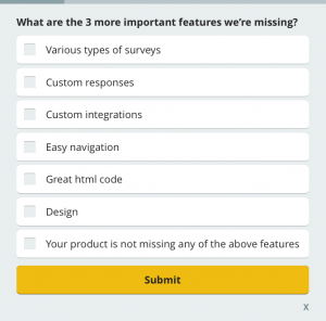 20 Most Popular Customer Satisfaction Survey Questions Survicate Customer Satisfaction Survey Questions Survey Questions This Or That Questions