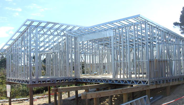 low cost offering solution and prefabricated range building light steel frame house http
