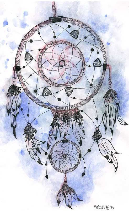 Colorful Dream Catcher Art