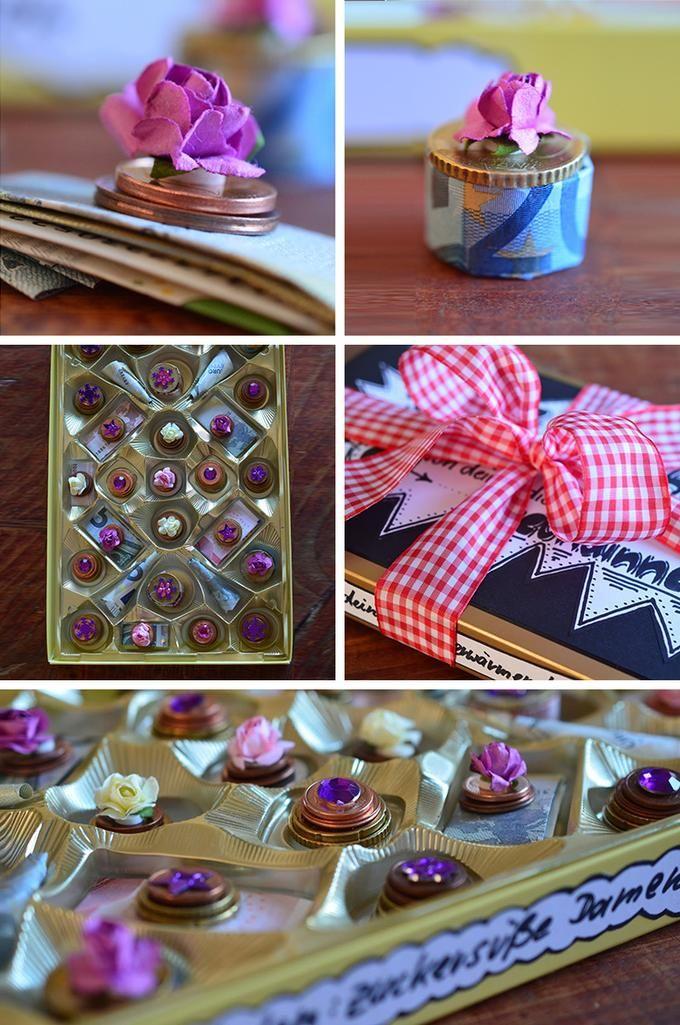 geldgeschenk in pralinenschachtel verpacken geschenke geschenke geld und geschenke verpacken. Black Bedroom Furniture Sets. Home Design Ideas