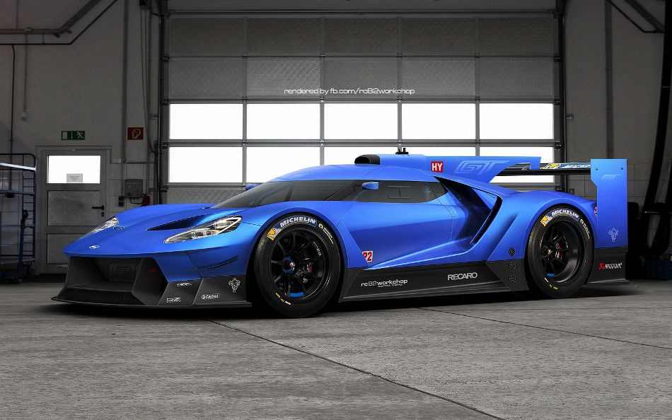Fan Rendering Of A Ford Gt Le Mans Car Is Glorious Ford Gt Le