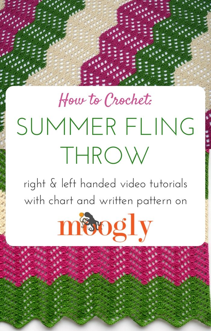 How to Crochet the Summer Fling Throw - video tutorial, chart, and ...