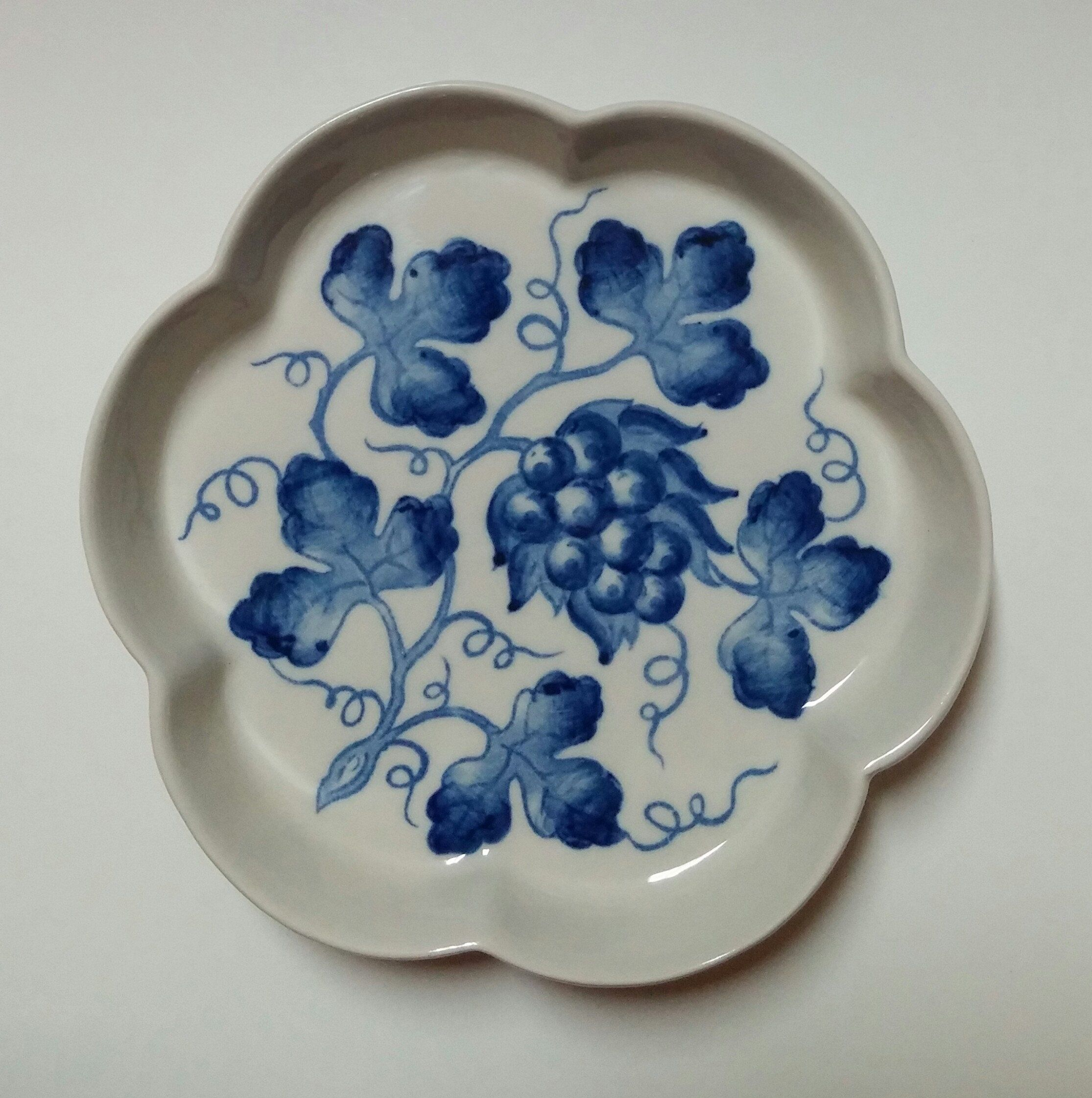 Vintage Colonial Williamsburg Blue in Bloom Porcelain Dish Andrea by ...
