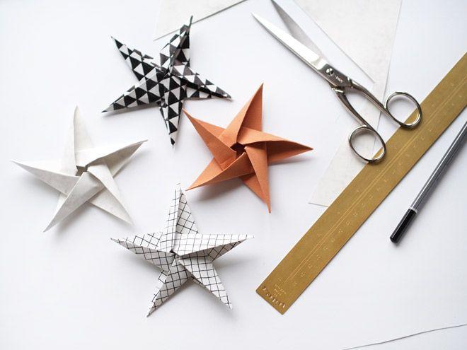 Origamitähti marmoripaperista - Kotilo   Divaaniblogit