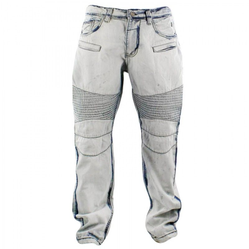 Grindhouse Bleached Dark Edge Biker Jeans