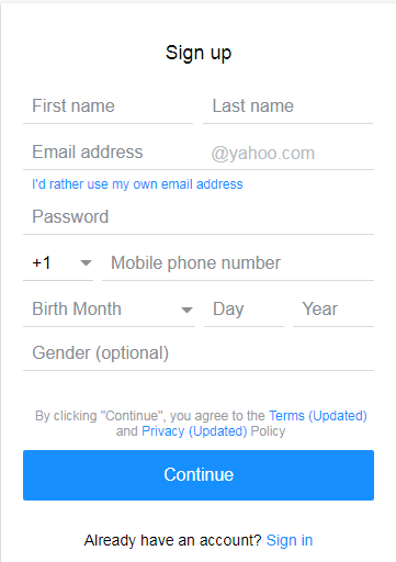 Signing Up For A Yahoo Mail Account Is Easy And Free Yahoo Technology Lifetips Yahoosignup Mail Account Accounting Mail Sign