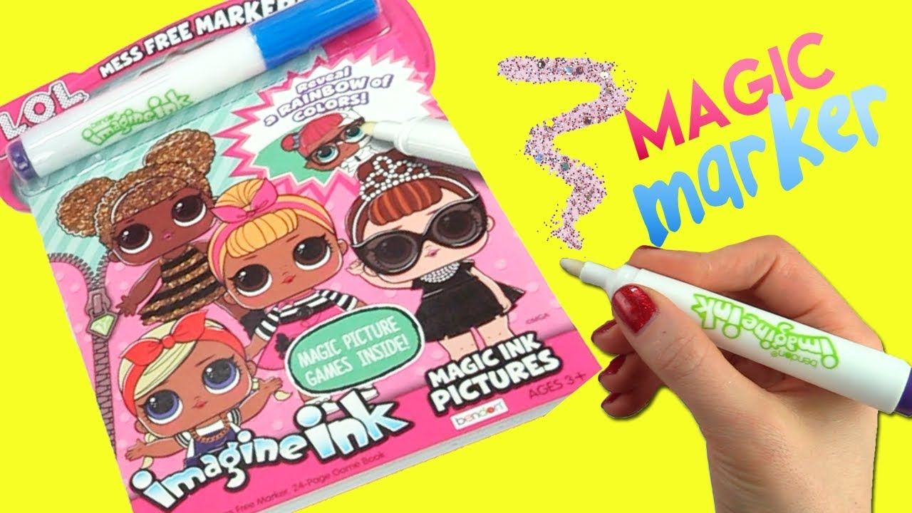 Lol Surprise Imagine Ink Coloring Book With Magic Marker And Dolls