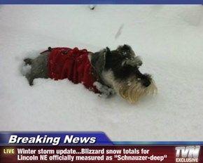 Breaking News - Winter storm update   Blizzard snow totals