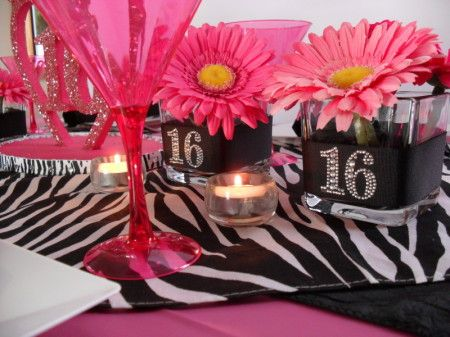 Sweet 16 Table Decoration Ideas mini centerpiece quinceanera sweet 16 cm_008 httpstoresshop Sweet 16 Girl Party Planning Party Ideas Cute Food Holiday Sweet 16 Centerpiecestable