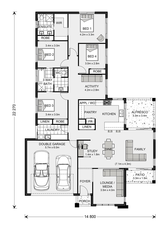 Parkview 240 House And Land In Orange G J Gardner Homes Home Design Floor Plans Floor Plans House Design