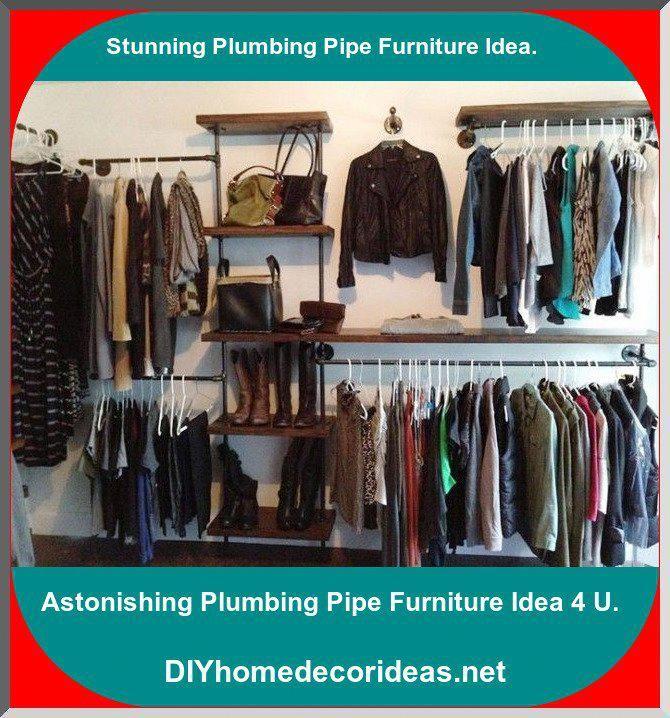 Photo of Industrial Plumbing Pipe Closet Organizer Incredible #plumbingpipes #plumbingpip…