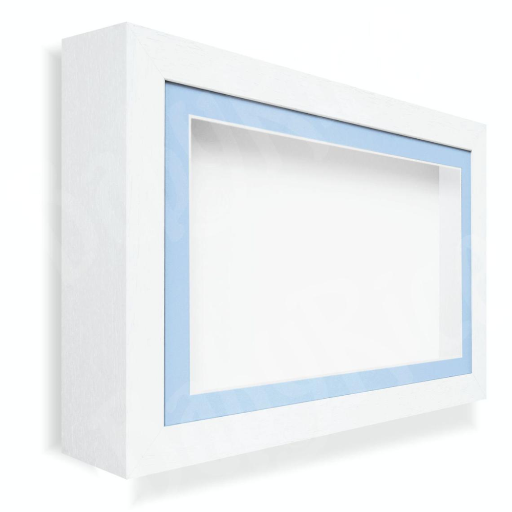 New White Deep Shadow Box Display Frame Lots Of Sizes 4 8cm Etsy Deep Shadow Box Frame Display Shadow Box
