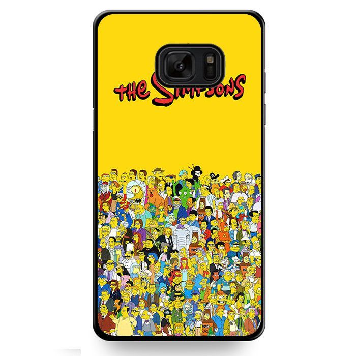 The Simpsons All Character TATUM-11015 Samsung Phonecase Cover For Samsung Galaxy Note 7