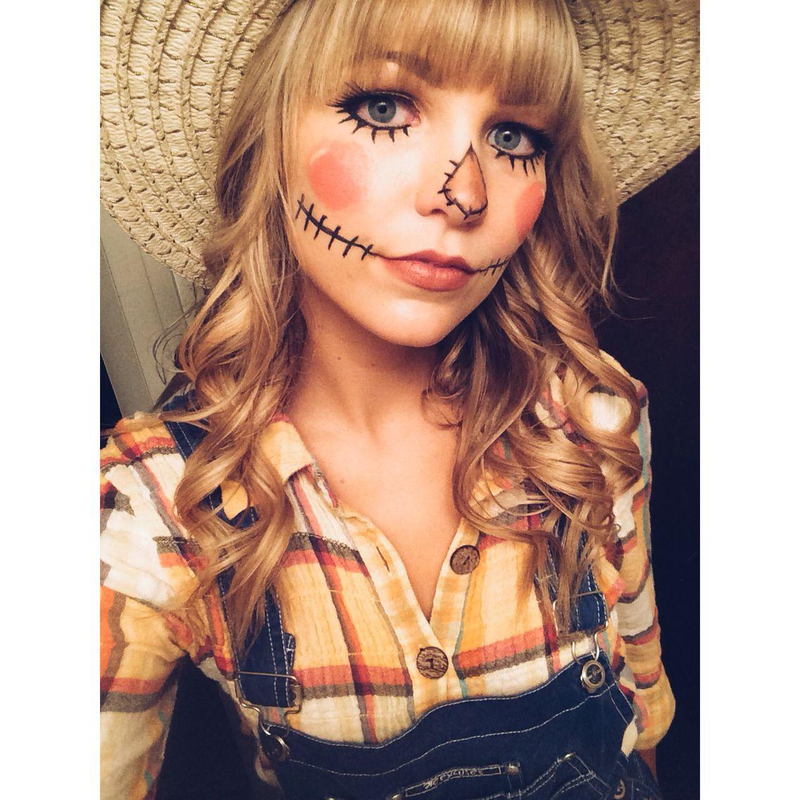 Scarecrow makeup Halloween costumes scarecrow, Halloween
