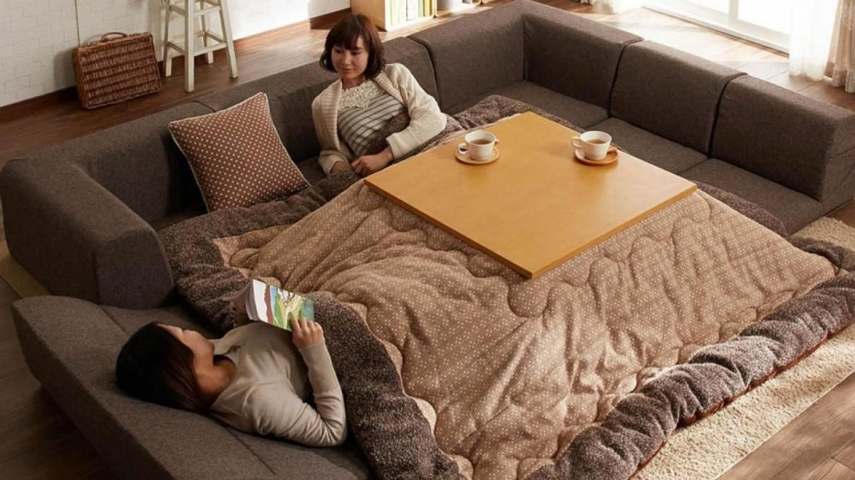 This Heated Kotatsu Table Lets You Nap Work Or Eat While Keeping