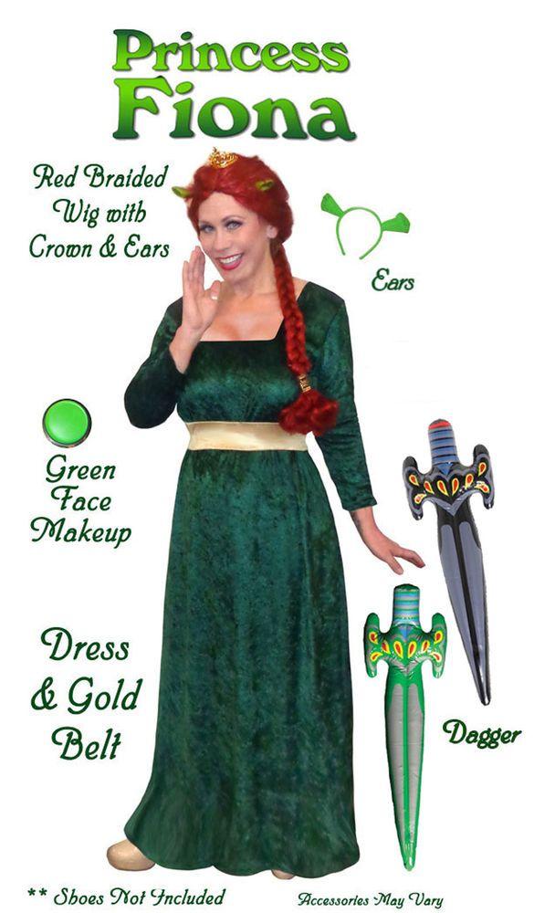 Princess Fiona from Shrek PLUS SIZE Costume S M L XL1x 2x 3x 4x 5x 6x 7x 8x 9x