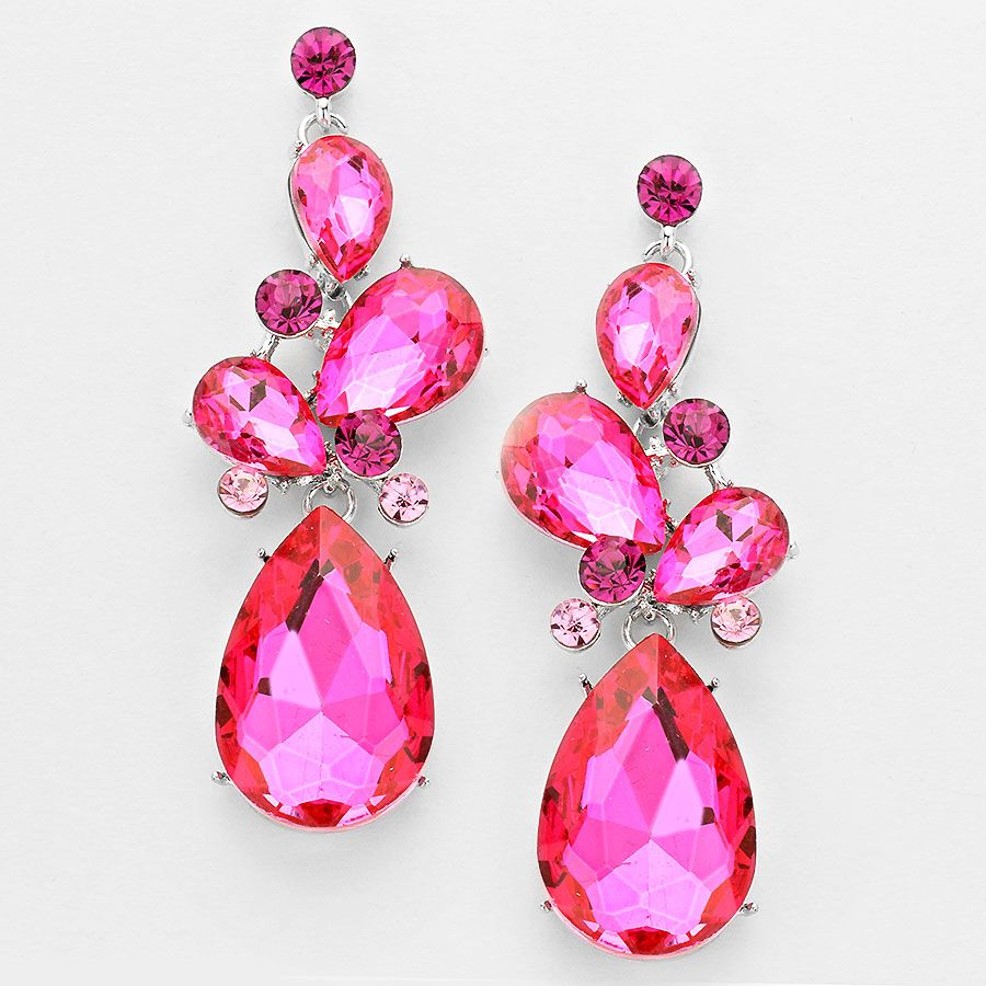 Pink Pageant Prom Jewellery Earrings Tlleoftheballboutique Co Uk
