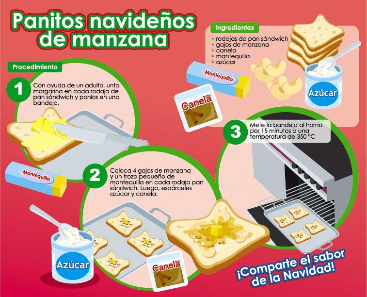 Panitos Navideños De Manzana Hago Mi Tareahago Mi Tarea Recetas De Cocina Para Niños Actividades De Cocina Para Niños Cocina Para Niños