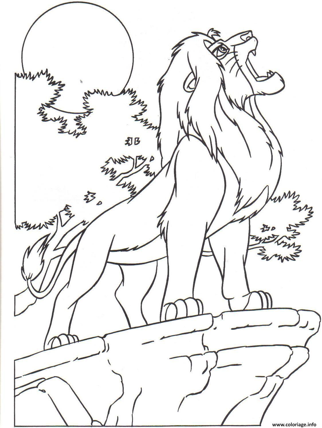 Coloriage le roi lion 28 Dessin à Imprimer  Lion coloring pages