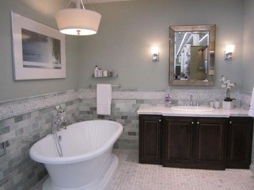 No Windows Bathroom Ideas: Misty Sherwin Williams - Google Search