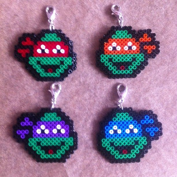 TMNT hama mini beads by buryyourhead