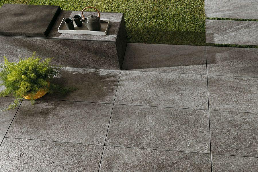 Terrassenplatten Naturstein Optik Grau 45x90x2cm Brave Grey