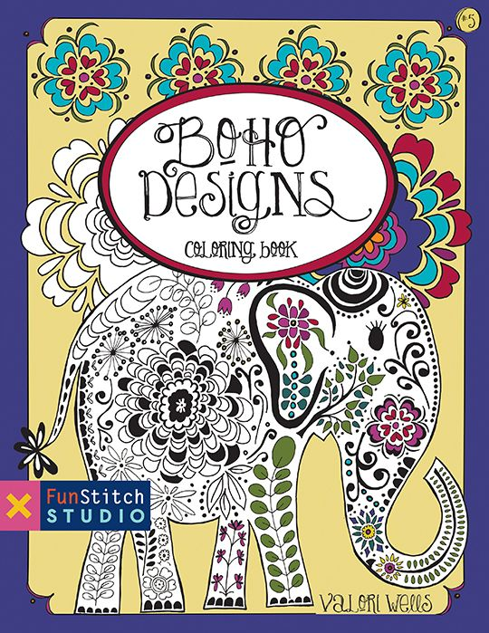 Boho Designs Coloring Book 18 Fun See How Colors Play Together Creative Ideas By Valori Wells BohoDesigns