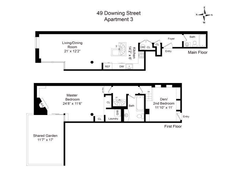 Which Apartment In A Converted West Village Stable Would You Choose Floor Plans Apartment Plans House Plans