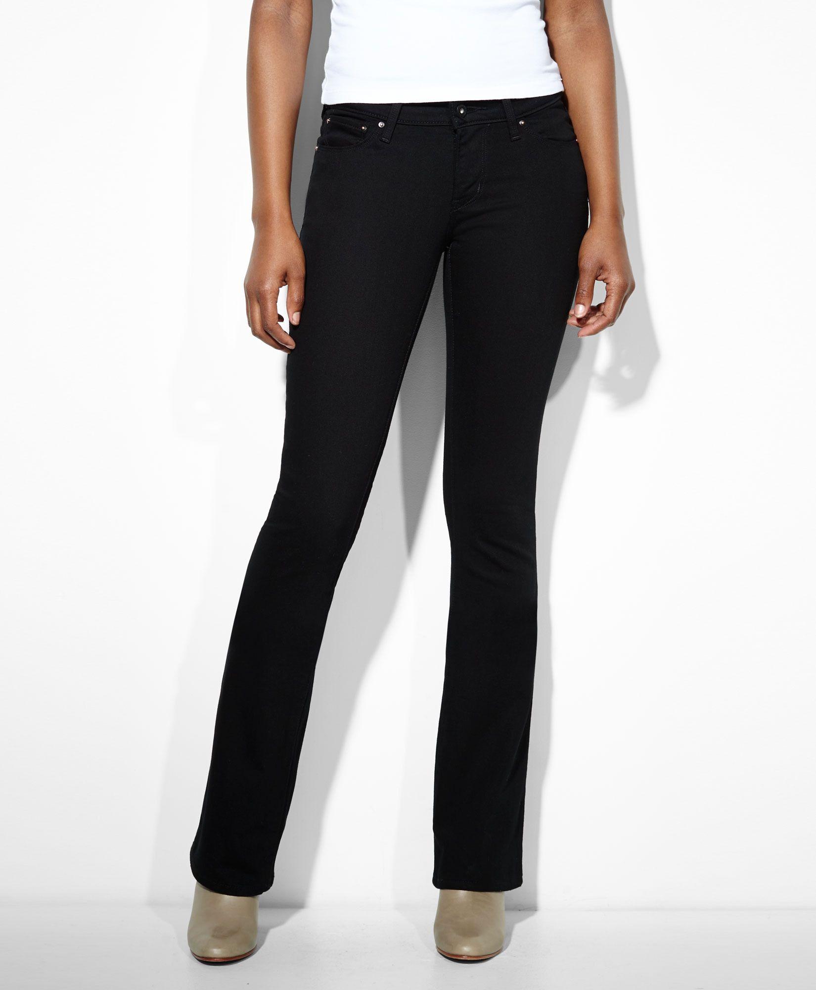 8ec75d75924f Levi s Modern Rise Bold Curve Bootcut Skinny Jeans   Black Levis