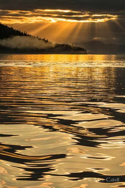 One incredible sunset (Alaska) by Alice Cahill