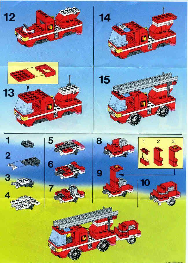 Rescue Fire Engine Lego 6593 Lego Instructions Pinterest