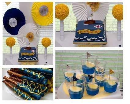 ideas para baby shower de marinero