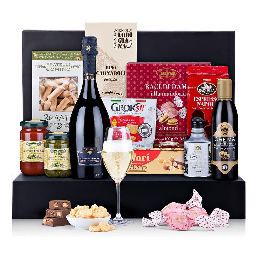 Italian Luxury Gourmet Gift With Prosecco Pasta Gifts Gourmet Gifts Prosecco