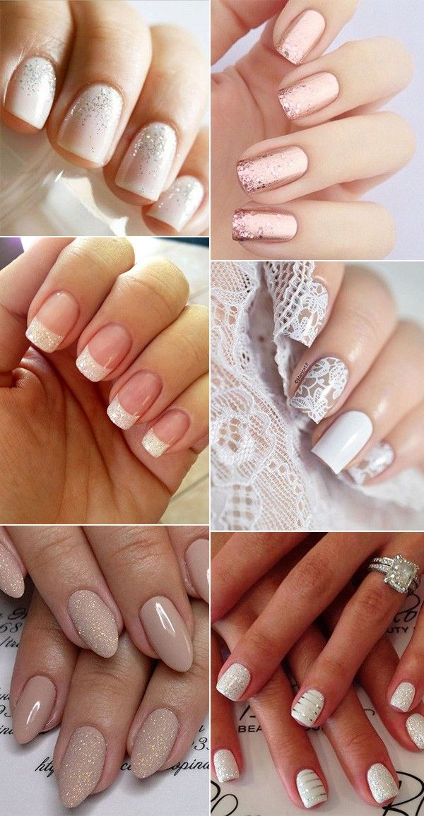 12 Perfect Bridal Nail Designs for Your Wedding Day | Bridal nail ...