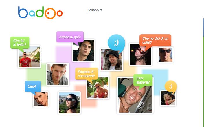 La schermata della home page di Badoo Recensioni Messaggi