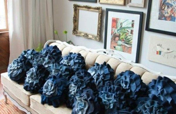 aus Jeans kissenbezüge klamotten couch