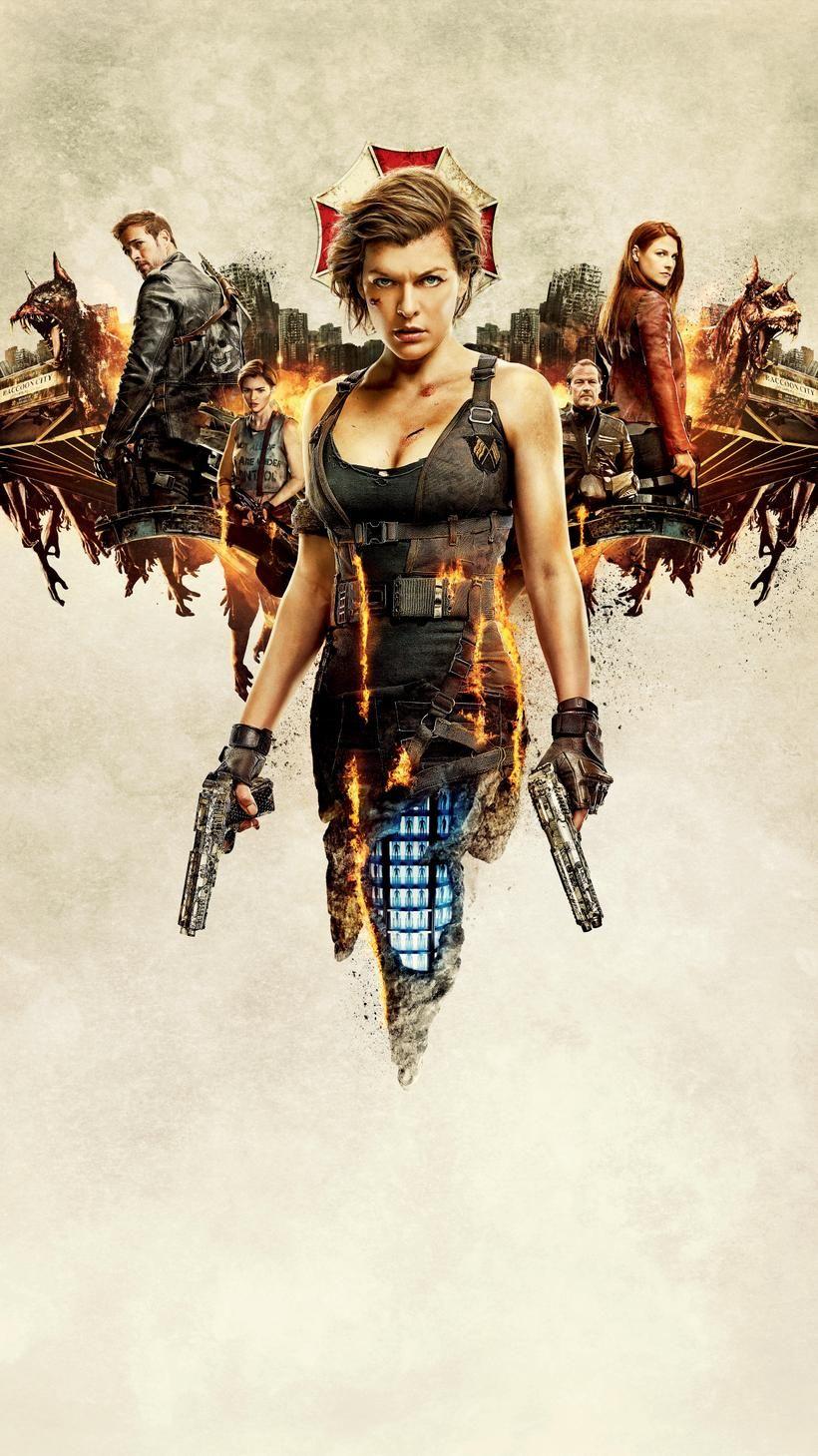 Resident Evil The Final Chapter 2016 Phone Wallpaper