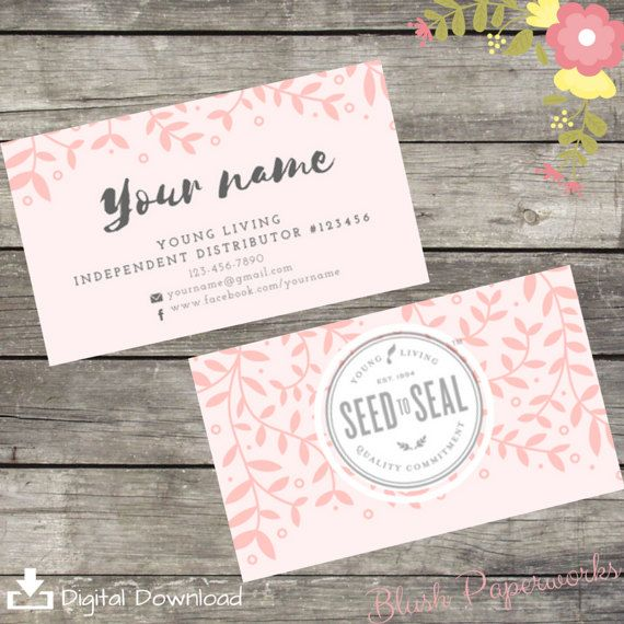 Young Living Essential Oil Business By BlushPaperworks On Etsy Cards