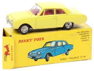 tres rare dinky toys france s rie poch 559 ford taunus 17m jaune citron b c la plaque d. Black Bedroom Furniture Sets. Home Design Ideas