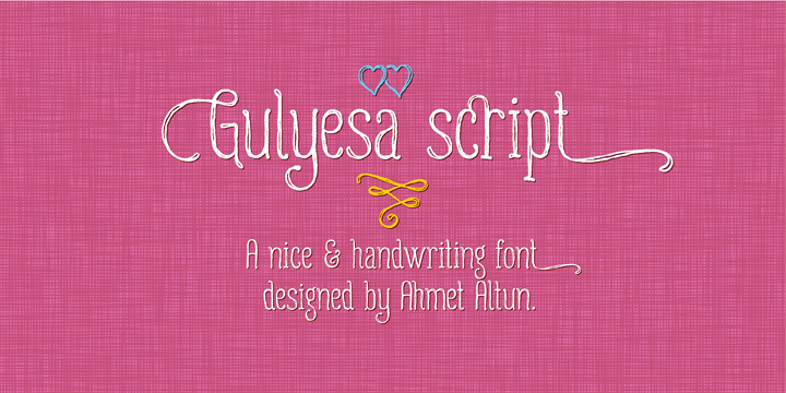 Gulyesa Script Font Poster