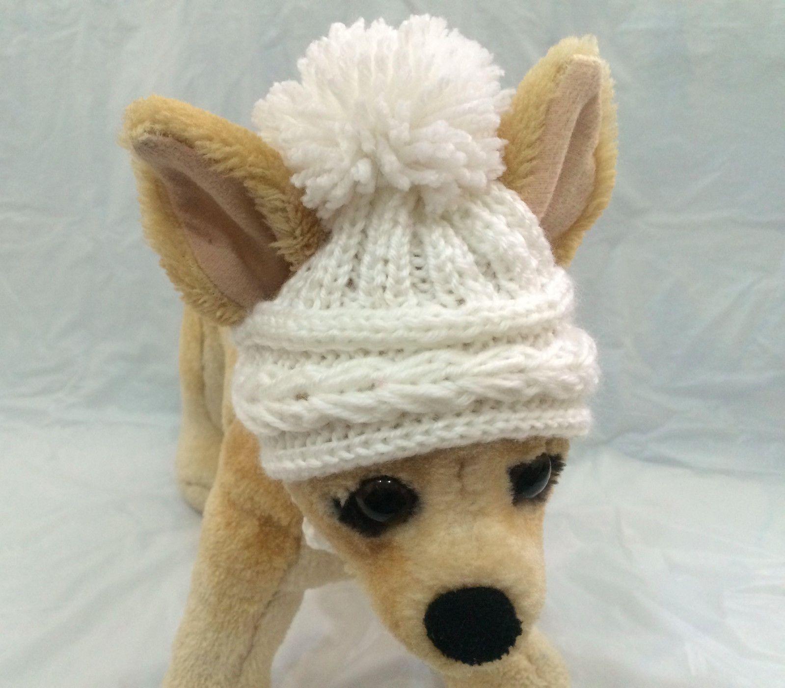 e93e717d433  12 - Pet Clothes Apparel Hand-Knit Pom-Pom Hat For Small Dog And Cat Xxs Xs  S  ebay  Home   Garden