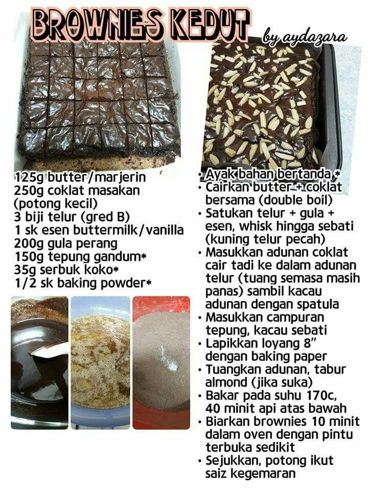 Brownies Kedut Brownie Cake Recipe Resepi Brownies Brownies