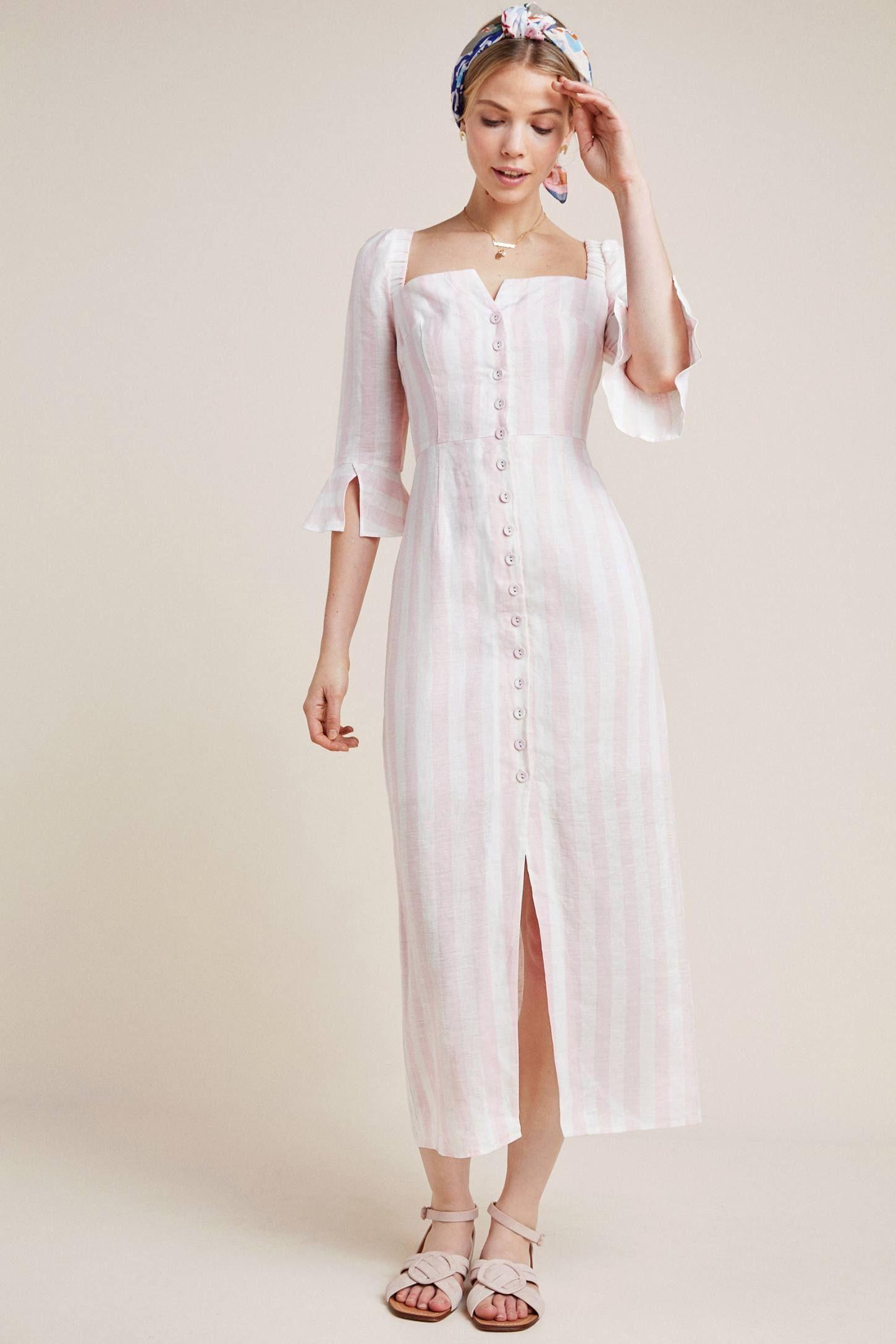 Structured Linen Midi Dress Linen Midi Dress Fashion Midi Dress [ 2175 x 1450 Pixel ]