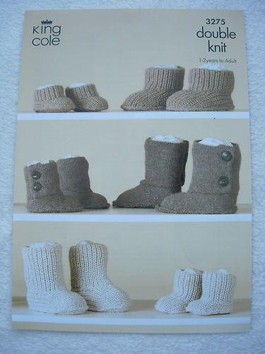 King Cole UUG Boot Style Pattern 3275 DK | eBay