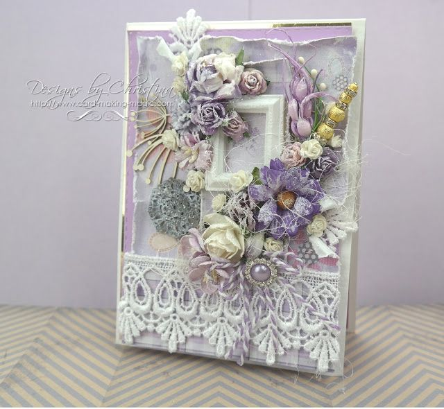 Amazing Card Making Magic Ideas Part - 8: Flowers, Ribbons And Pearls: Shabby Chic With Card Making Magic
